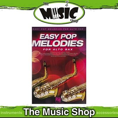 New Easy Pop Melodies for Alto Sax Music Book - Beginners Songbook