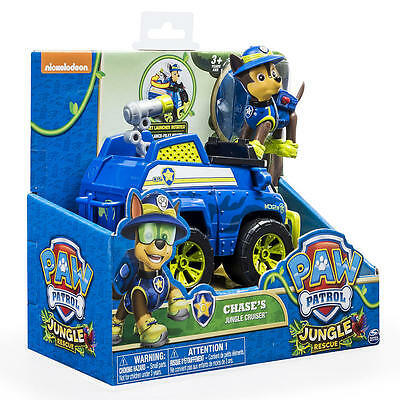 Paw Patrol Chase's Jungle Rescue Cruiser Truck Toy - Authentic - Paw Patrol Toys