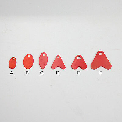 50Pack  Vinyl Lure Flippers,Kicker Blades For Spoons & Jigging Lures 2 Colos