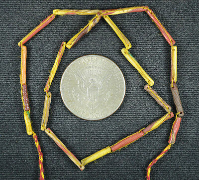 Ancient Roman Glass Beads 1 Strand Twist 100-200 Bc 0624