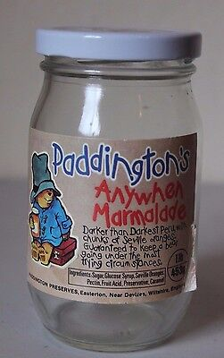 Vintage Paddington's Anywhen Marmalade Preserves Jar - Rare - Gently Used
