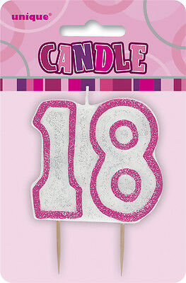Glitz Birthday Pink Numeral Candle 18TH Party Supplies Decoration Accessories