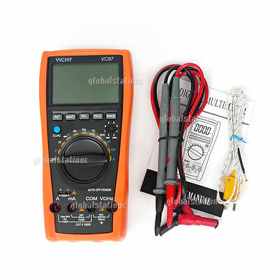 VC97 Digital Multimeter LCD Voltmeter Auto Range AC DC Ohm Tester+ Battery AU