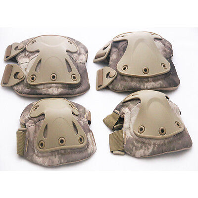tactical airsoft combat -protective skate knee pads adjustable knee & elbow
