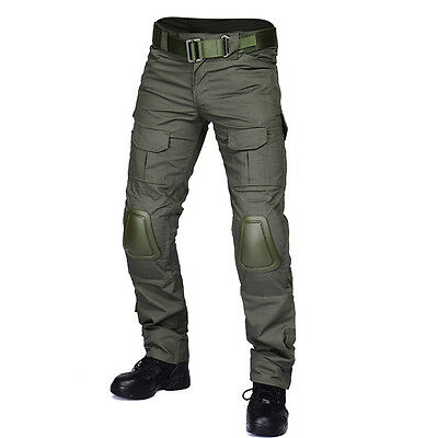 tical Pants With Knee Pads Army military Ripstop Combat Camo Trousers
