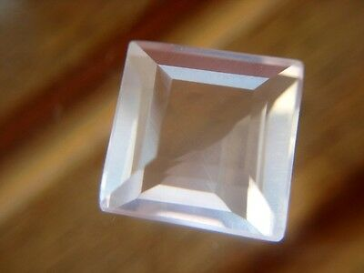 ROSENQUARZ  -  SQUARE FACET  -  8,3 mm  -  3,16 ct.