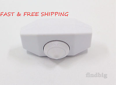 Universal White Rotary Dimmer Switch for Lamp 120 V up to 300 W