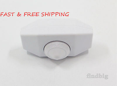 Universal White Rotary Resistance Dimmer Switch for Lamp 120 V up to 300 W