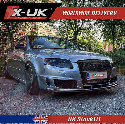 Front Grill Gloss Black For Audi A4 B7 To Rs4 2005 - 2008
