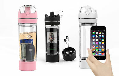 iBottle by SH&H California - 480ml Sports Drink Bottle with iPhone storage.