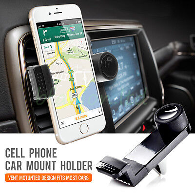 360 Rotating Car Air Vent Holder Mount Cradle Stand For Apple iPhone Sat Nav GPS