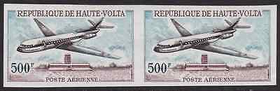 UPPER VOLTA - 1968 - Air. Sud Aviation Caravelle. Imperf. Se-tenant.Mint NH