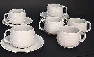 12 Pc LOT MiD CENTURY ROBERT STEVEN WiTKOFF AMBRiA OMNi WARE 6 CUP 6 SAUCER SET