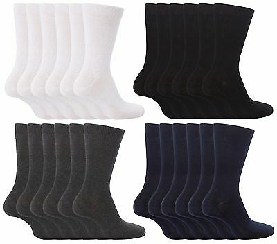 6 Pack Girls Boys Soft Thin Cotton Rich Plain Black Gray or White School Socks