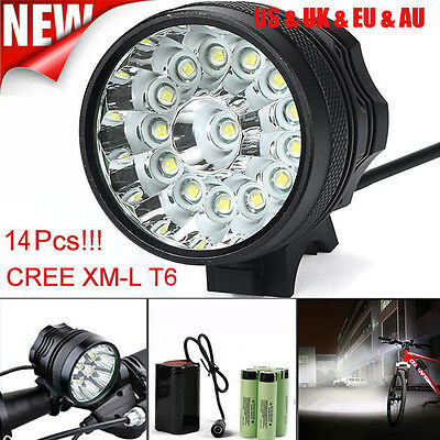 34000LM CREE T6 Bicycle Bike Head Light Lamp Headlamp Headlight Waterproof lot