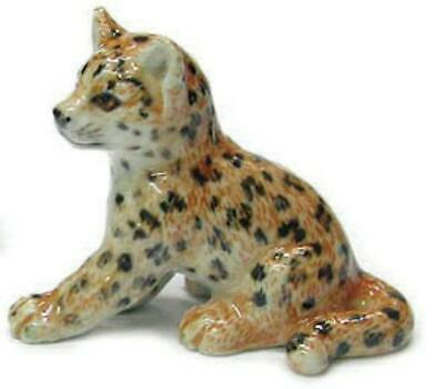 Northern Rose Miniature Porcelain Animal Figure Leopard Cub Sitting R284B