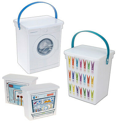 Laundry Clothes Peg Storage Container Dishwasher Tablets Washing Machine Soap