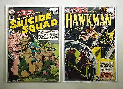 Brave and the Bold #37 44 $130.00 LOT 2nd SUICIDE SQUAD tryout HAWKMAN Grey-tone