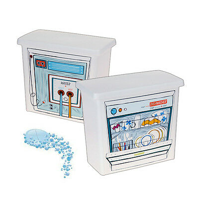 Plastic Dishwasher Tablet Storage Solution Container Box Lid Handle Utility Room