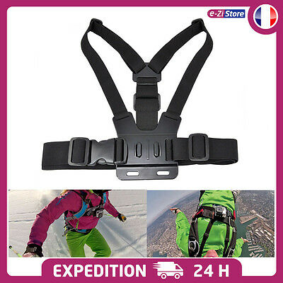Kit Support Harnais Gopro Hero 2 3 3+ 4 Fixation Torse Chest Sangle Poitrine