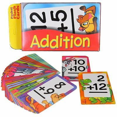 ADDITION New Pocket Flash Cards 56pk See n Say Maths Numbers