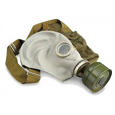 GP-5 genuine Soviet russian  Gas mask GP5 Gray rubber Full set  NOS SIZE 3