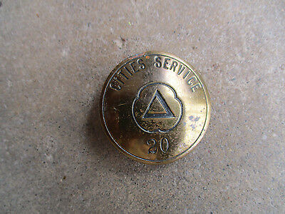vintage Cities Service CITGO metal gas gasoline employee ID badge pin