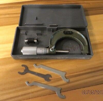 MITUTOYO 1-2 .001 Outside Friction Thimble Micrometer 103-128 - MACHINIST (JP2)