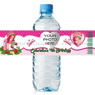 20 Personalized ELENA of AVALOR 2 x 8 Weatherproof Water Bottle Labels Favors