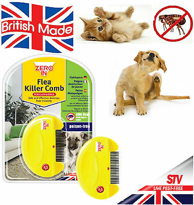Electric Flea Killer Comb For Cats & Dogs Destroy Fleas Poison Free Safer Home