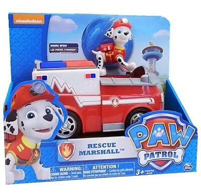Paw Patrol Marshall Fire Fightin' Truck Rescue Vehicle Toy Figure Ambulance EMT