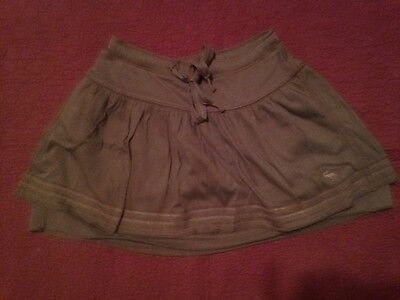 NWOT Abercrombie Kids Army Drab Green Fully Lined Cotton Knit Skirt Size M