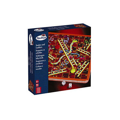 Pavilion Wooden Snakes And Ladders - NEW