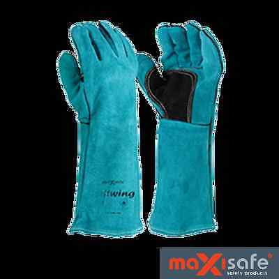 MAXISAFE Green 'Leftwing' Premium Welders Gloves