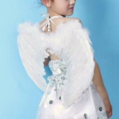 White Feather Fairy Angel Wings Party Fancy Dress Costume Accessory 45*35cm AU2