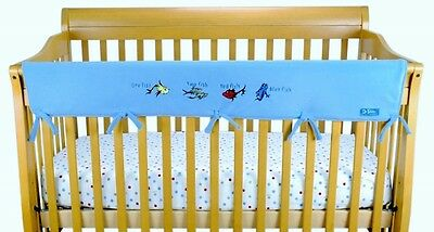 Dr Seuss One Fish Two Fish Baby Shower Long Crib Rail Wrap Cover Protector Gift