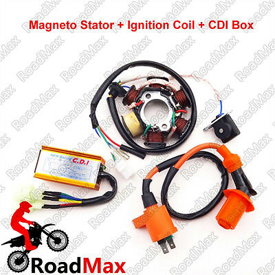 50cc Magneto Stator Ignition Coil CDI For GY6 ATV Go Kart  Moped Scooter