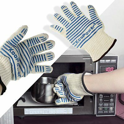 Kitchen Heat Oven Glove Silicone Resistant Cooking Baking Mitts BBQ Pot Holder