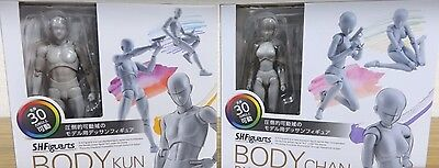 SET of Ms & Mr. Body CHAN x KUN Pair DX S.H.Figuarts Gray Dessin Drawing Figure