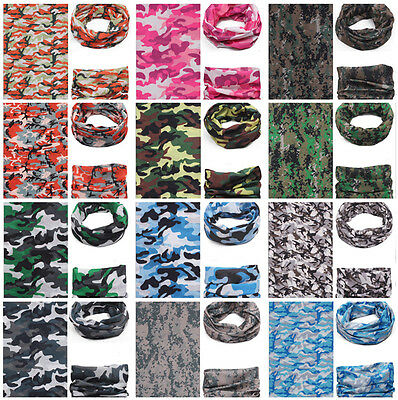 Unisex Outdoor Camouflage Bandana Face Mask Head Wear Scarf Multi-wear AU