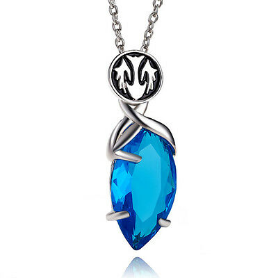 Fashion Final Fantasy X/X-2 Yuna's Pendant Blue Magic Crystal Necklace