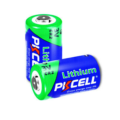 2pcs 3V CR2 Lithium Photo Battery (DLCR2, CR15270) For Camera Golf GPS PKCELL