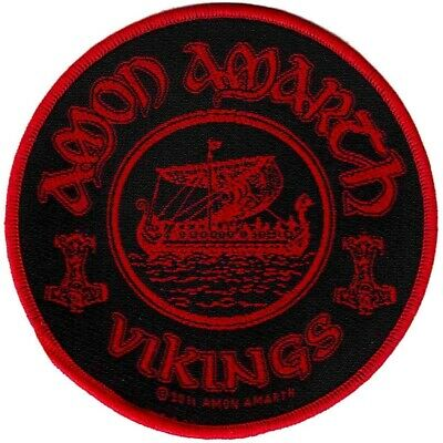 Amon Amarth Vikings Circular Patch Official Heavy Metal New