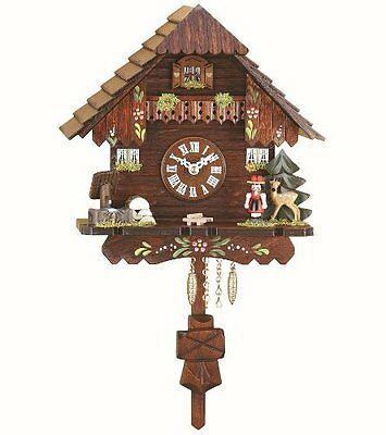 Kuckulino Black Forest Clock Black Forest House with quartz movement and cuckoo