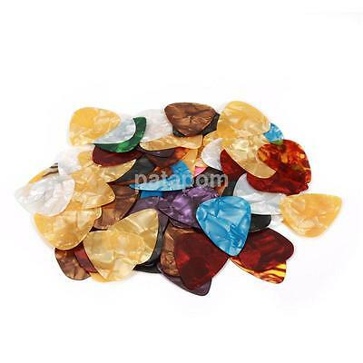 100pcs Acoustic Electric Guitar Celluloid Picks Plectrum Mix Thickness Picks AUU
