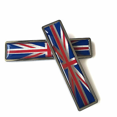 Car Sticker Stainless Metal Union Jack Flag of UK Sticker Emblem For Mini Cooper