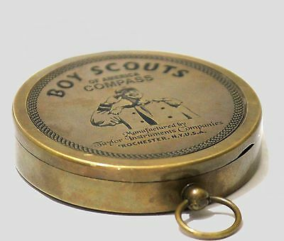 Antique Vintage American Boy Scout Compass Nautical Replica Maritime Gift USA