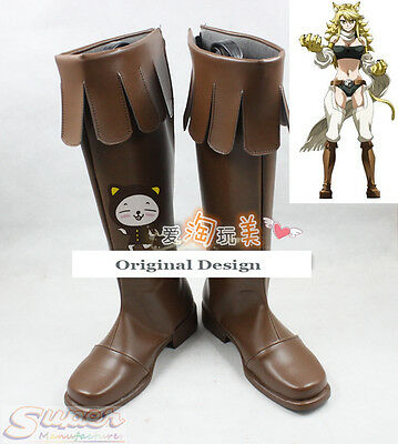 Hot Sale Akame ga Kill! Leone Boot Party Shoes Cosplay Boots Custom-made