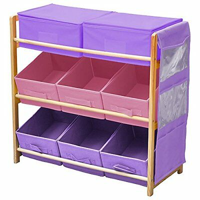 CHILDRENS/KIDS 3 TIER TOY/BEDROOM STORAGE DRAWERS BOXES SHELF UNIT AND 8 Eight