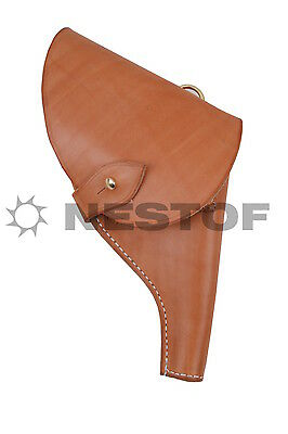 Russian Imperial Army M1912 Officer Revolver Holster Made In Europe 100% Leather